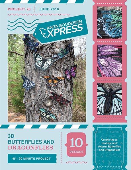 ANITA GOODESIGN - EXPRESS PROJECT #20 - 3D BUTTERFLIES & DRAGONFLIES