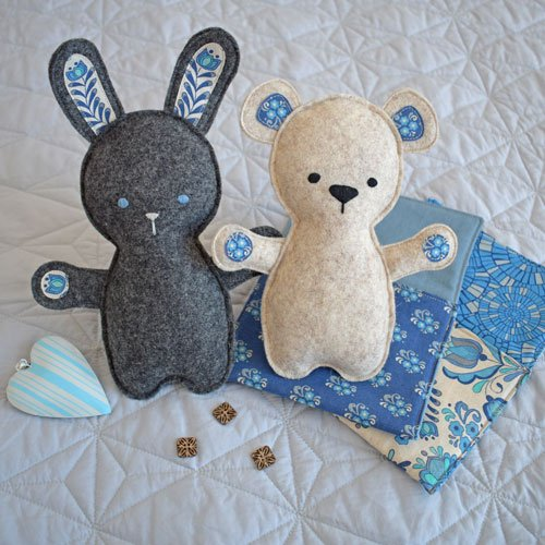 Bed Time Bunny & Bear - Fabric Kit Only