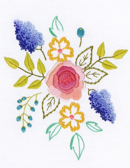 BLUSH BOUQUET EMBROIDERY KIT