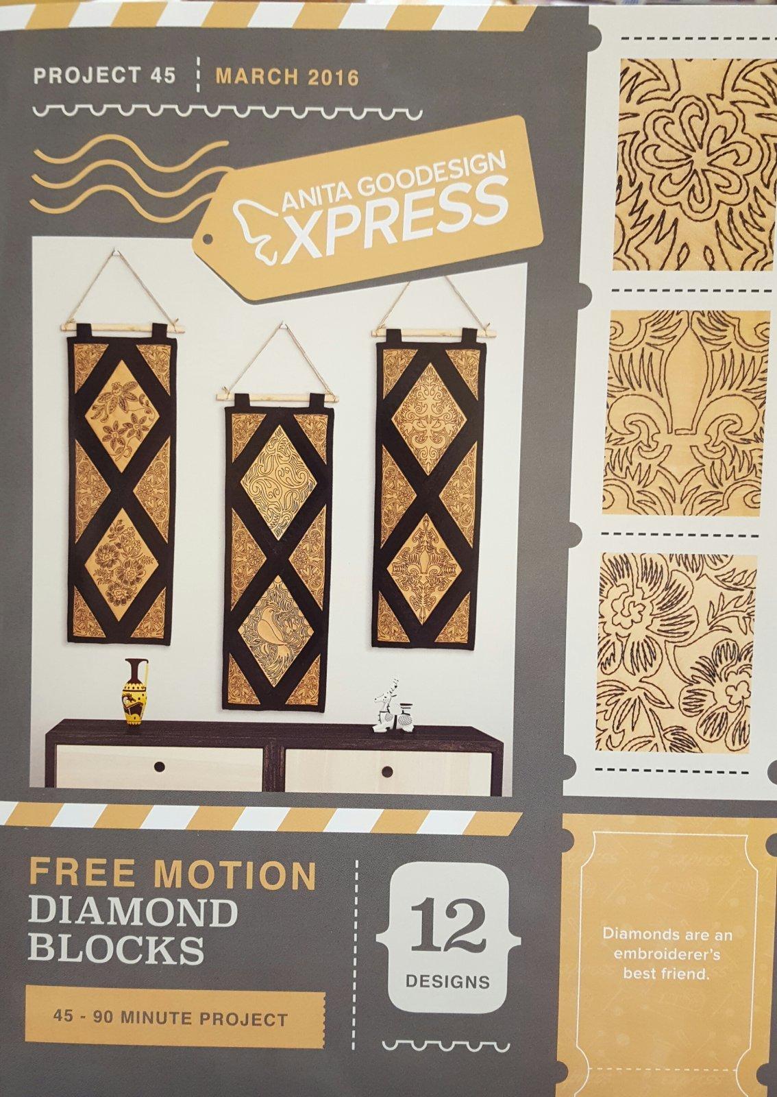 Anita Goodesign - Express #45 -Free Motion Diamond Blocks