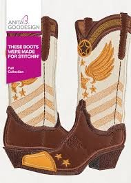 Anita Goodesign - These Boots Were Made for Stitchin'