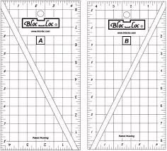 BLOC_LOC  HALF RECTANGLE TRIANGLE RULER SET