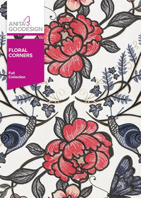 Anita Goodesign - Floral Corners