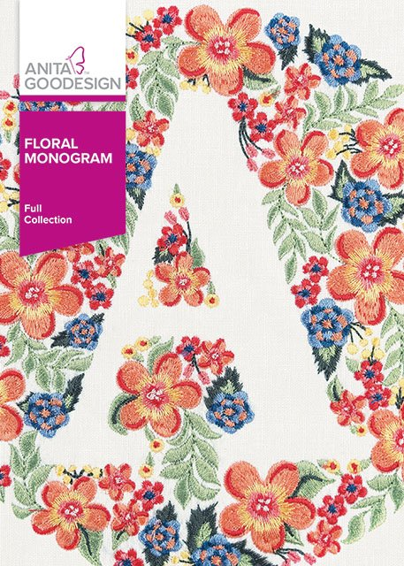 Anita Goodesign - Floral Monogram