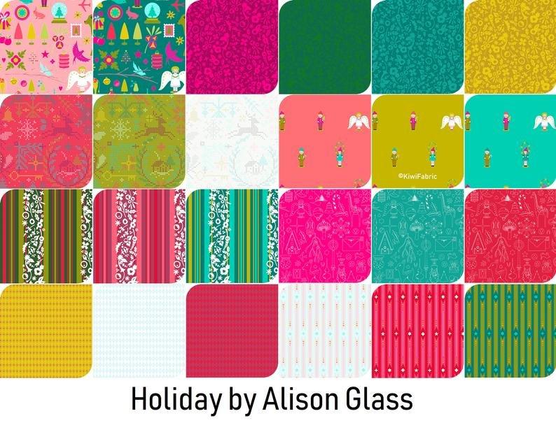 ALISON GLASS HOLIDAY 24 PC FAT QUARTER BUNDLE