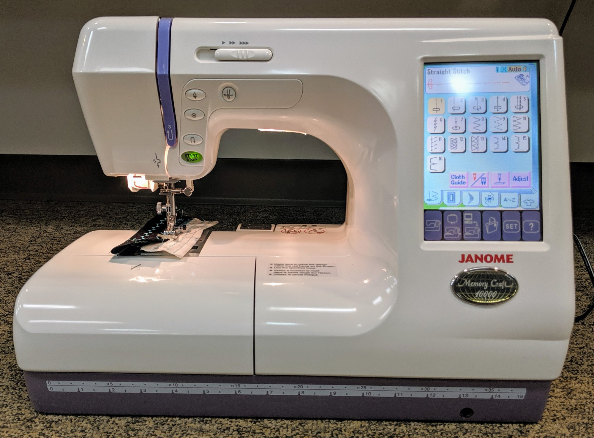 Janome Memory Craft 10000 Sewing & Embroidery