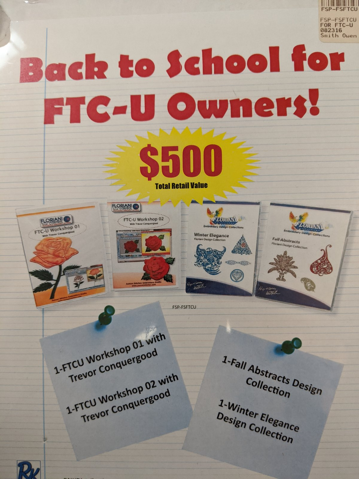 BACK TO SCHOOL FOR FTC-U