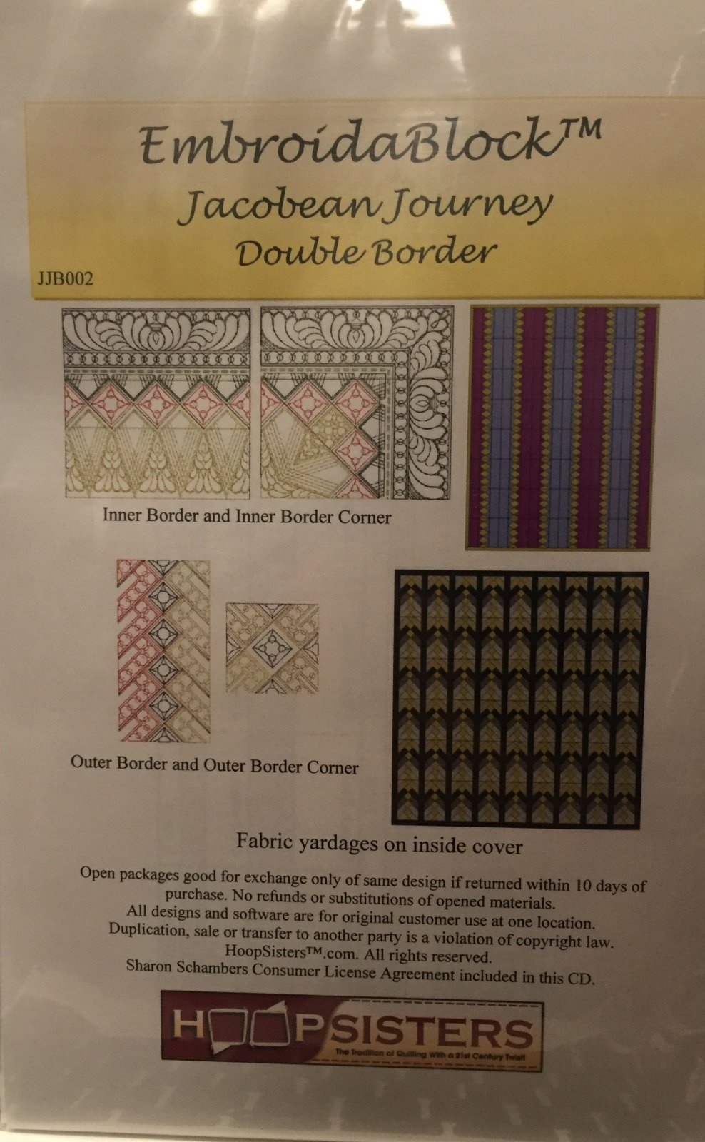 JACOBEAN JOURNEY OPTIONAL DOUBLE BORDER CD