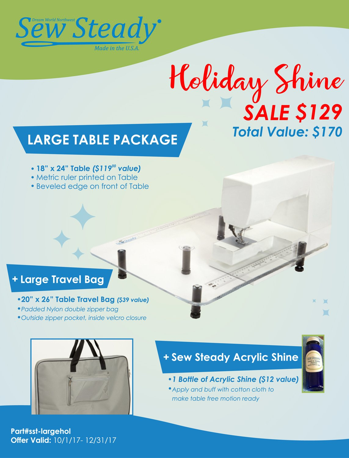 Sew Steady Large Table Holiday Special