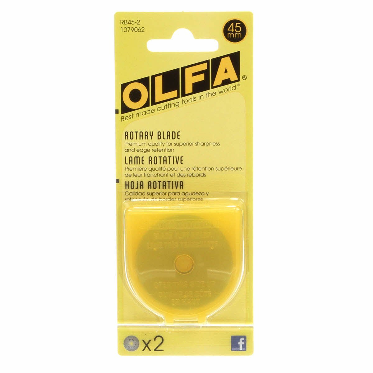 BLADE REFILL RTY2 2CT 45MM OLFA