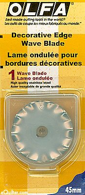 BLADE WAVE EDGE ROTARY FOR 45MM OLFA