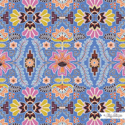 FIESTA PERUVIAN ROSE BLUE BY STACY PETERSON