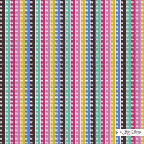 FIESTA PINATA STRIPE BLUE BY STACY PETERSON