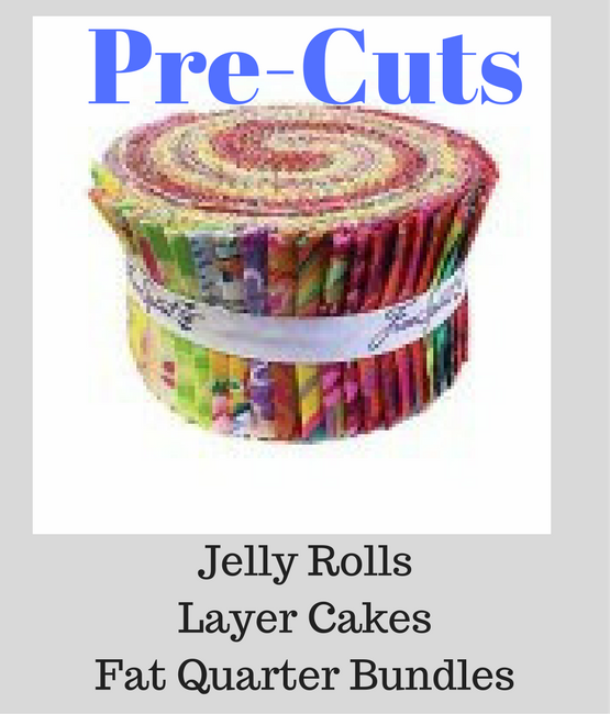 Jelly Rolls, Layer Cakes, Fat Quarter Bundles, Etc