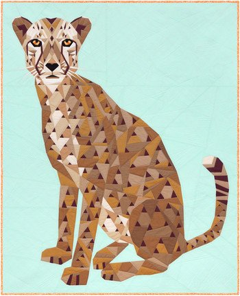 THE CHEETAH ABSTRACTIONS QUILT KIT