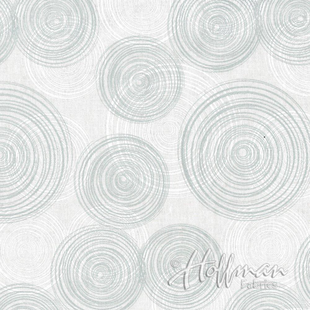 Sparkle and Fade Silver Circles