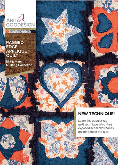 Anita Goodesign - Ragged Edge Applique Quilt