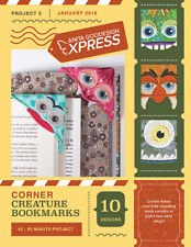 ANITA GOODESIGN - EXPRESS PROJECT #5 - CORNER CREATURE BOOKMARKS