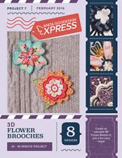 ANITA GOODESIGN - EXPRESS PROJECT #7 - 3D FLOWER BROOCHCES