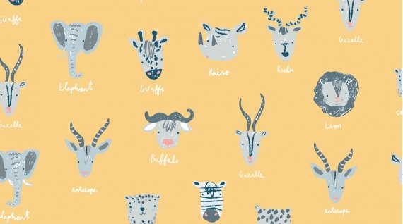 Species Yellow w/African animals
