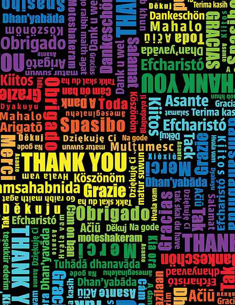 THANK YOU WORDS MULTILINGUAL