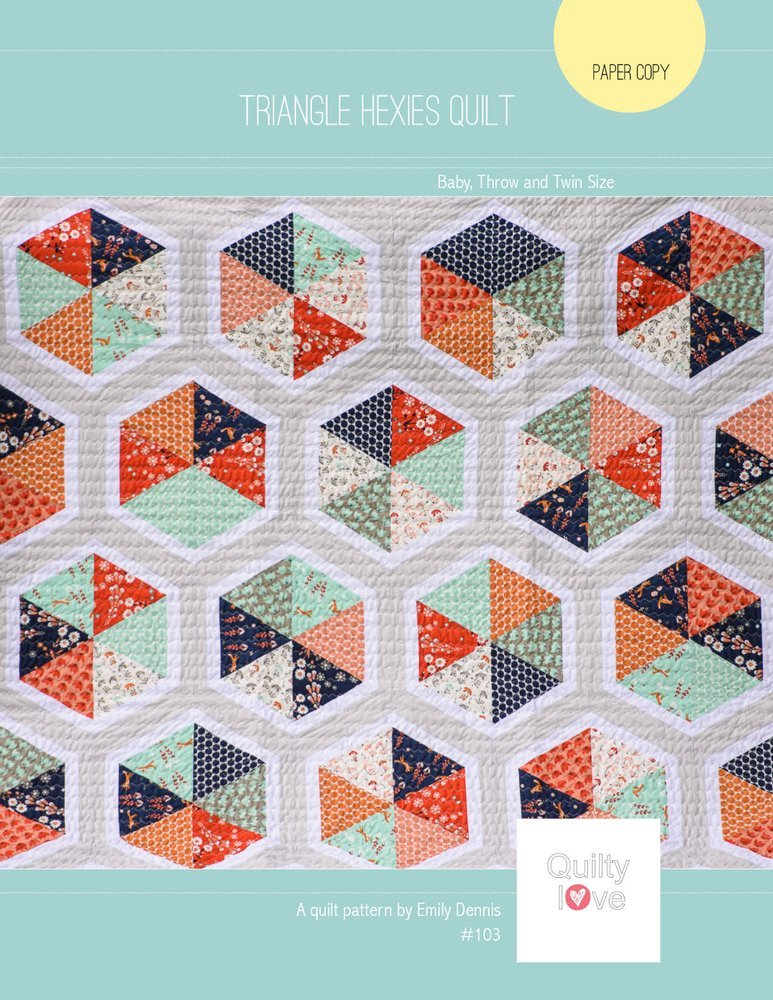 Triangle Hexies Quilt