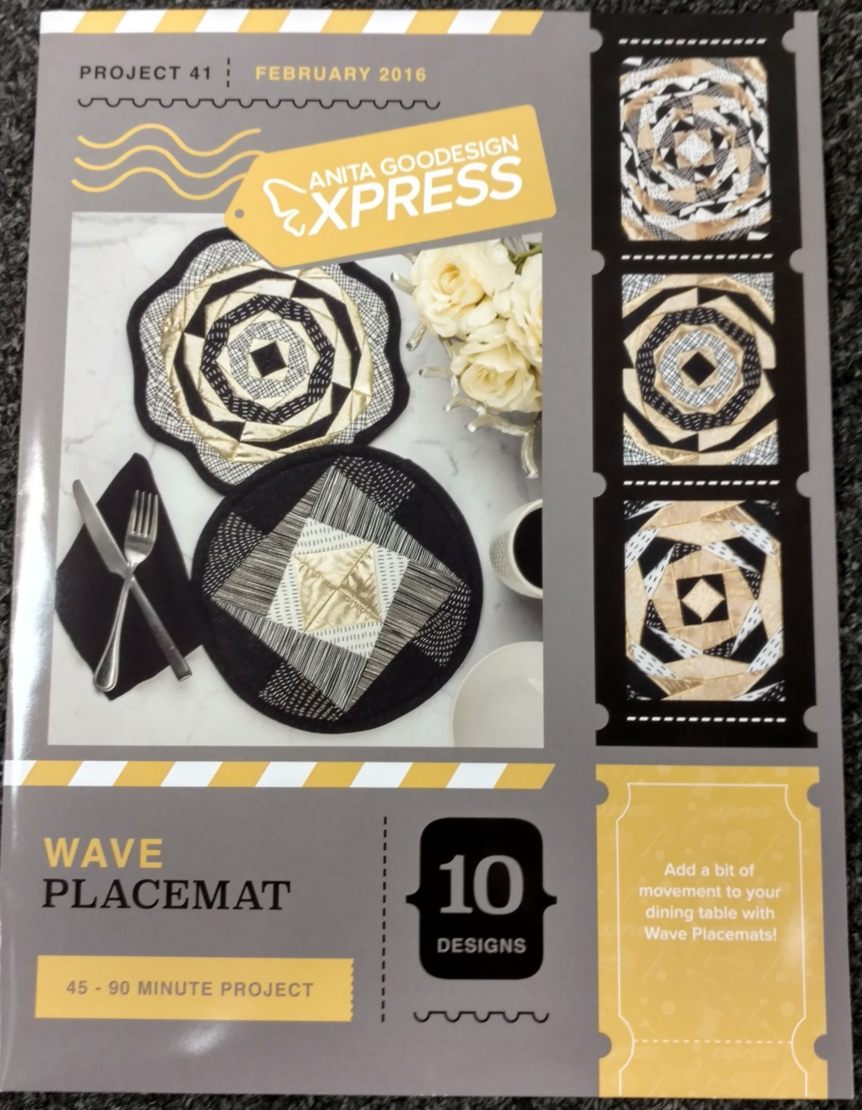 Anita Goodesign - Express #41 - Wave Placemat
