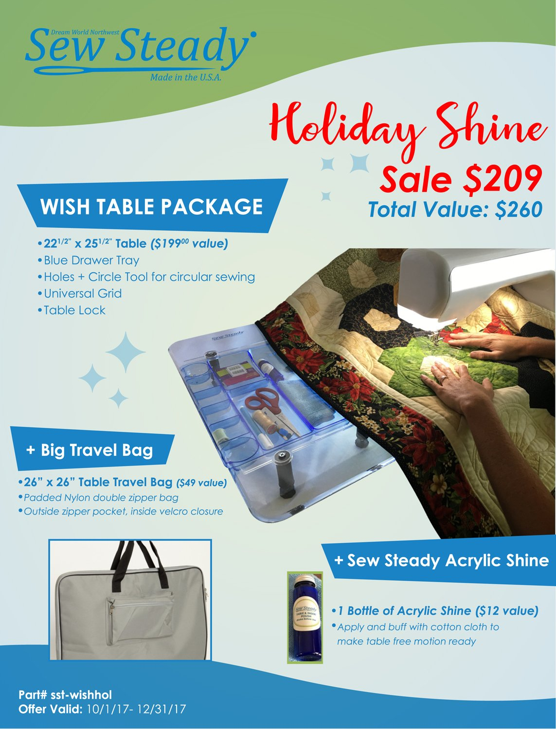 Sew Steady Wish Table Holiday Special
