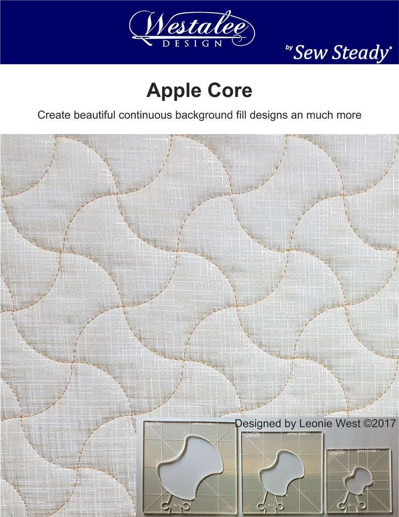 Westalee Design Apple Core Template 3 pc set