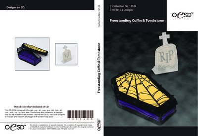 Freestanding Lace Coffin & Tombstone CD