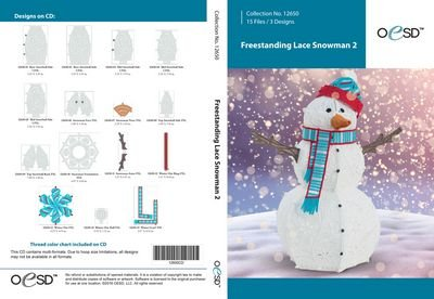 Freestanding Lace Snowman 2
