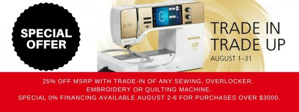 Bernina Trade In Trade Up Days