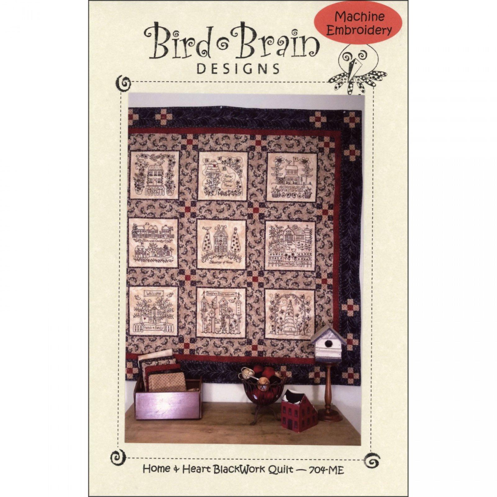 Home & Heart Blackwork Quilt Pattern