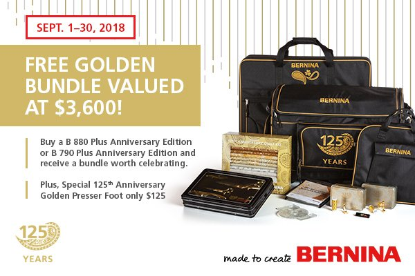Bernina National Sewing Month Promo