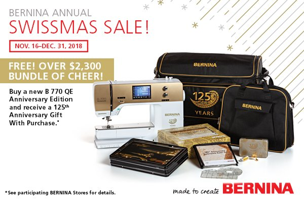 Bernina Anniversary Promotion