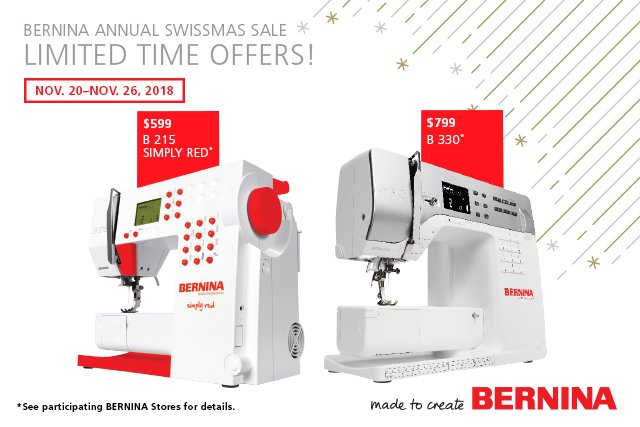 Bernina Simply Red & 330