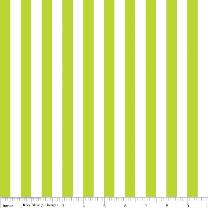 Half Inch Lime Stripe