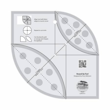 Creative Grids  Round Up Tool and Quilting Ruler