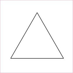 Equilateral Triangle Template 1.25