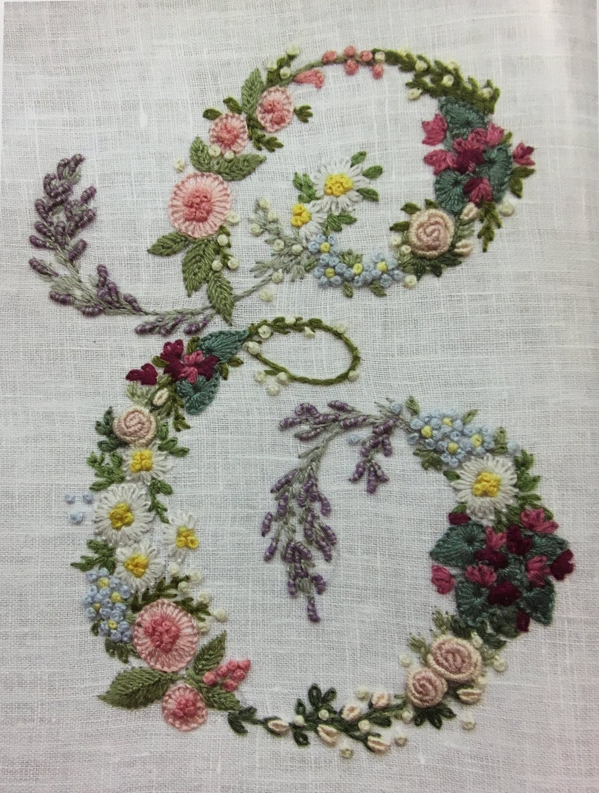 649d4cd393f4 Floral Monogram - Hand Embroidery
