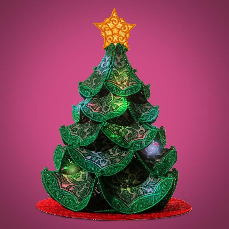 Freestanding Lace Christmas Tree