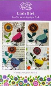 Birds Pink Wendy Williams Pre-cut Wool Kit