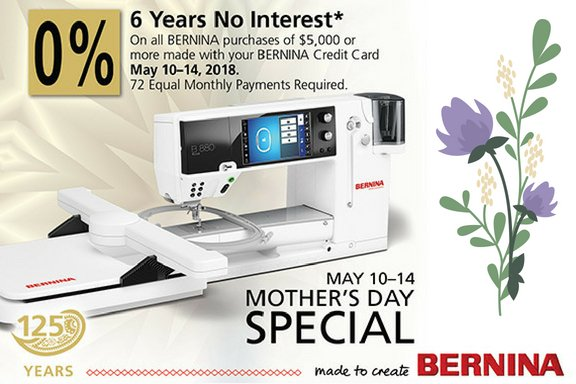 Bernina Financing Promo