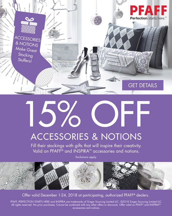 Pfaff Accessories 25% off