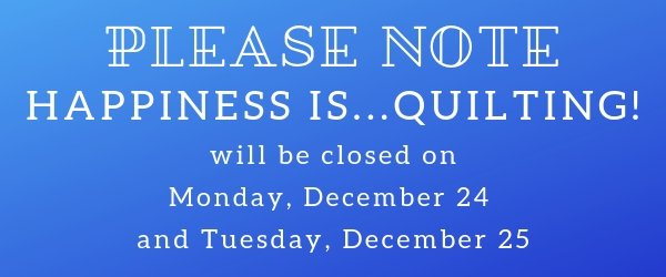 Please Note Closed 12/24 & 12/25