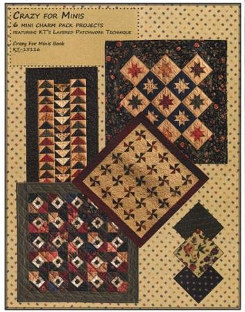 Crazy for Minis Pattern Book by Kansas Troubles Quilters