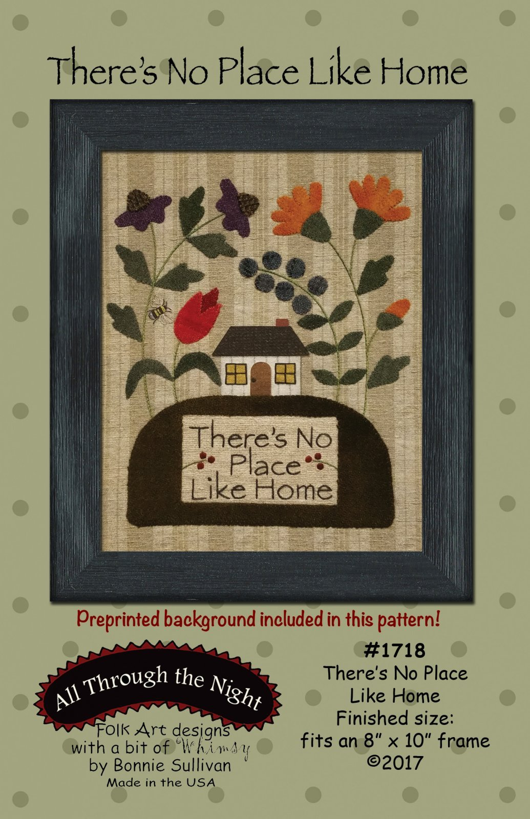 There's No Place Like Home - Embroidery Kit - 8 x 10