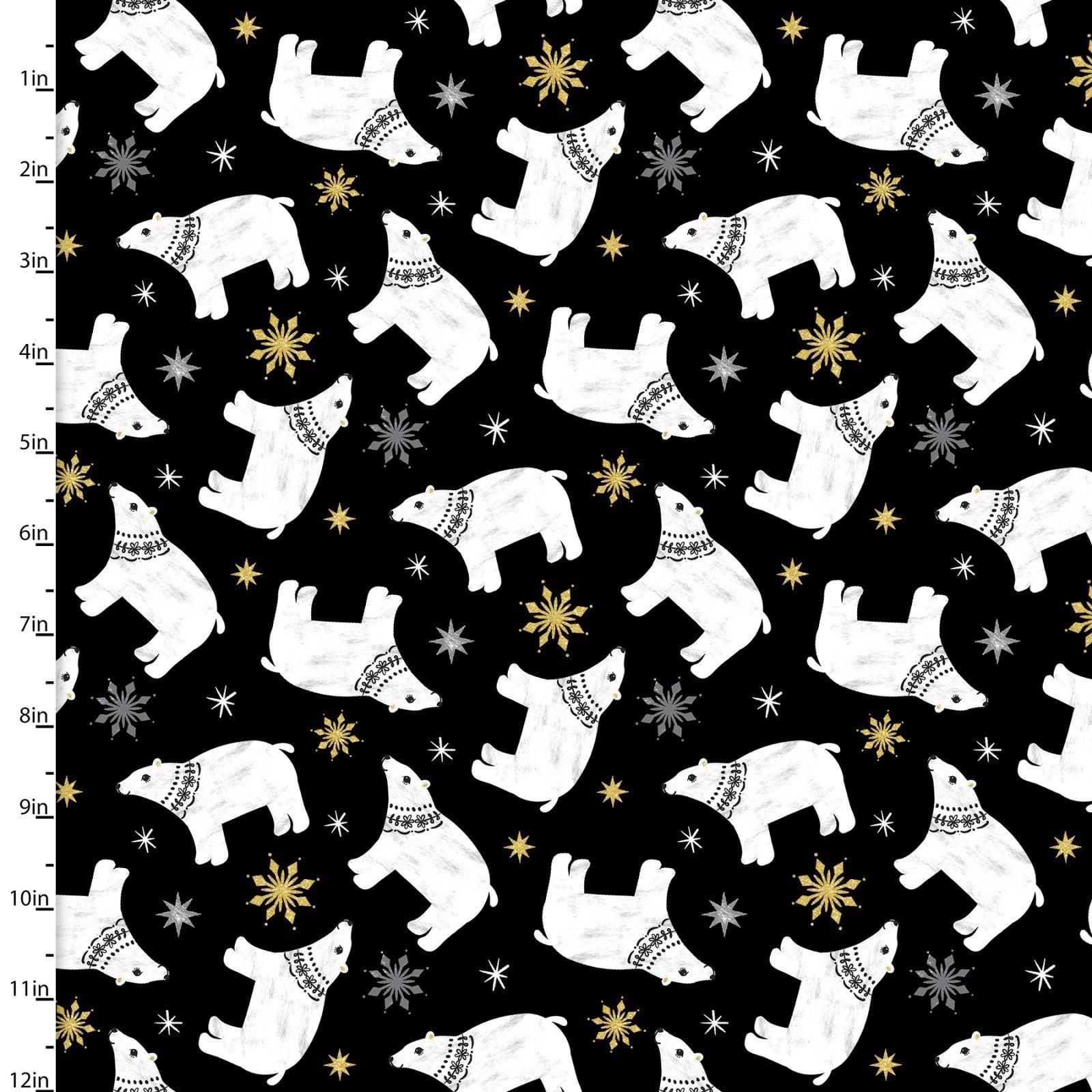 Peace on Earth - Polar Bears - Black