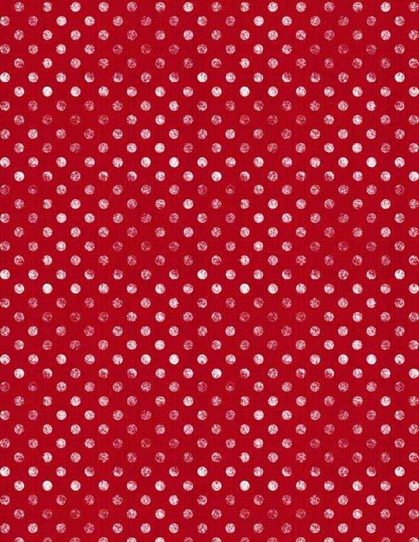 EOB - 1 yard 6 - Essentials Dotsy - Red