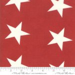 EOB - 1 yard - Mackinac Island by Minick & Simpson: Bunting Star - Red